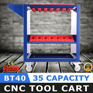 Cnc Toolscoot Tool Cart For 40 Taper Tool Holders Cat40 Bt40 Nmtb