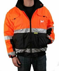 Safety Depot Reversible Jacket Class 2 Ansi Approved Water Resistant High Large