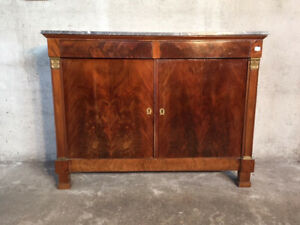Antique And Elegant Empire Sideboard In Mahogany Restored In Progress
