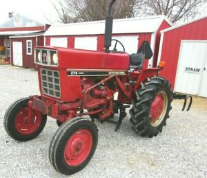 Ih 274 Tractor With Cultivators And 3 Point Hitch shipping 1 85 Loaded Mi