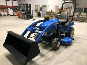 2010 New Holland Boomer 1025 Compact Loader Belly Mower Tractor 4x4
