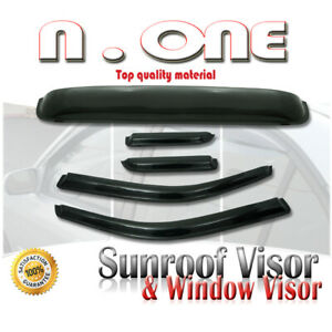 Window Side Sunroof Visor Vent Shade Combo Roof Mount 99 04 Chevrolet Tracker