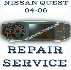 Instrument Cluster Repair Service For 2004 2005 2006 Nissan Quest