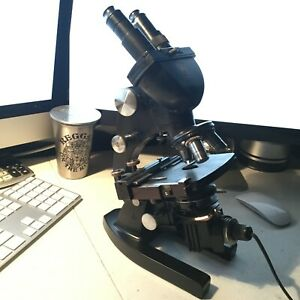 American Optical Spencer 3 Stage Microscope Ao N15mlh 3 Lenses 10x 43x 97x
