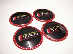 4x 65mm Trd Wheel Center Cap Decal Sticker Camry Prius Tacoma Mr2 Corolla Frs