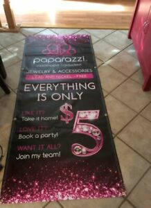 Paparazzi Jewelry Banner Sign Size 30 Wide X 71 Long