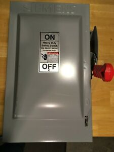 Siemens Heavy Duty Safety Switch 60 Amp 600 Volt Fusible Disconnect Hf362n