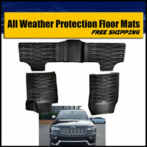 Rugged Cover Floor Mats Front New Black Fit For Jeep Grand Cherokee 2014 2017