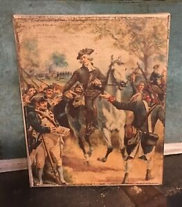 Primitive Soldier Americana Handmade Reproduction Canvas Print