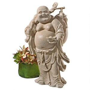 16 5 Large Asian Buddha Statue Of Contentment Abundance Zen Collectible Sculp