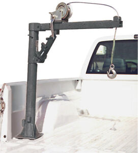 Pickup Truck Bed Crane Cable Winch Swivel Load Lift Boom Hydraulic Hoist 1 2 Ton