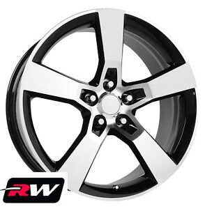 20 X8 20 X9 Chevy Camaro Ss Oe Replica Staggered Wheels Machined Black Rims