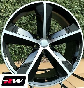 Dodge Charger Oe Replica Wheels 2357b Challenger Srt8 Black Machined Rims 5x115