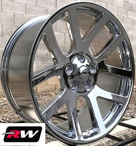 22 Rw Wheels For Chrysler 300 Chrome Rims Dodge Viper Style 22x9 5x115 18