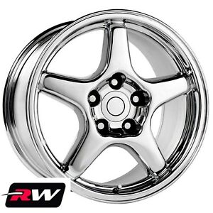 17 Inch Wheels For Chevy Camaro 1993 2002 Chrome 17x9 5 Rims 56 Offset