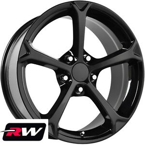 17 18 Inch Wheels For Chevy Camaro 1993 2002 C6 Grand Sport Gloss Black Rims