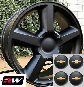 20 Inch Chevy Suburban Ltz 5308 Factory Style Wheels Matte Black Rims 6x139 7