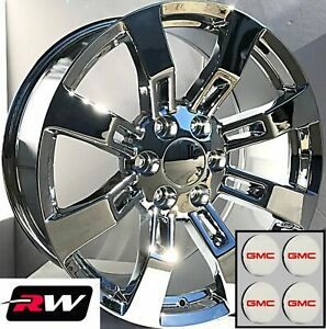 20 Inch 20 X8 5 Wheels For Gmc Yukon Chrome Rims Denali Ck375