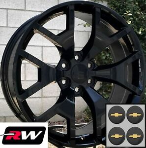 20 X9 Inch Rw 5656 Wheels For Gmc Truck Gloss Black Rims 6x139 7 6x5 50 27 Set