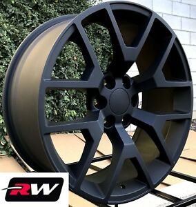22 Inch Chevy Tahoe Factory Style Honeycomb Wheels Matte Black Rims 6x139 7