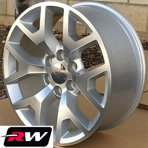 22 Inch 22 X9 Wheels For Chevy Tahoe Silver Machined Gmc Sierra 2014 Rims