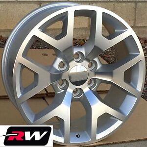 20 X9 Inch Rw 5656 Wheels For Chevy Truck Machined Silver Rims 6x139 7 27 Set