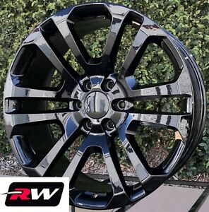 22 Inch 22 X9 Rw Ck158 Wheels For Cadillac Escalade Gloss Black Rims 6x139 7 Set