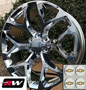 24 X10 Inch Chevy Tahoe Factory Style Snowflake Wheels Chrome Rims 6x139 7
