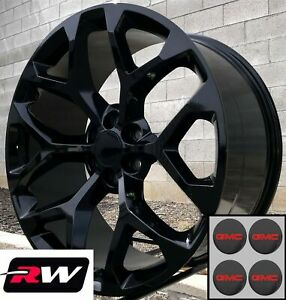 20 Inch Gmc Sierra 1500 Oe Replica Snowflake Wheels Gloss Black Rims 20 X9