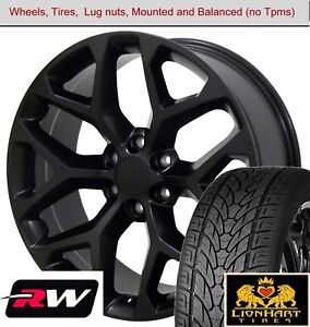 22 X9 Inch Wheels And Tires For Chevy Suburban Replica 5668 Satin Black Rims