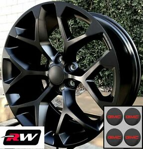20 Inch Gmc Sierra 1500 Factory Style Snowflake Wheels Satin Black Rims 20 X9