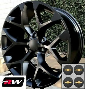 20 Inch Chevy Tahoe Factory Style Snowflake Wheels Satin Black Rims 20 X9