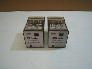 Pair Of 2 Finder Power Relays 60 13