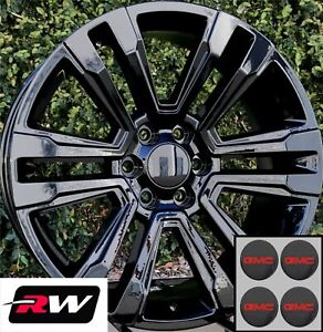20 Inch Gmc Yukon Factory Style Denali Wheels 2017 2018 Gloss Black Rims