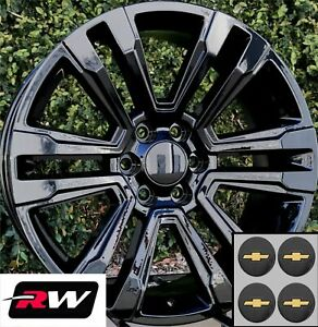 20 Inch 20 X9 Wheels For Chevy Silverado 1500 Gloss Black Gmc Denali Rims