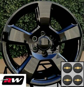 20 X9 Inch Rw 5652 5806 Wheels For Chevy Truck Gloss Black Rims 6x139 7 Set