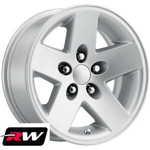 4 16 Inch 16 X8 Wheels For Jeep Wrangler Tj Silver 5 Spoke Rims