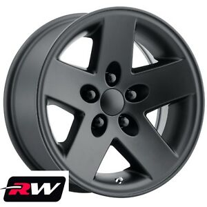 4 16 Inch 16 X8 Jeep Wrangler Tj 2003 2006 Oe Replica Wheels Matte Black Rims