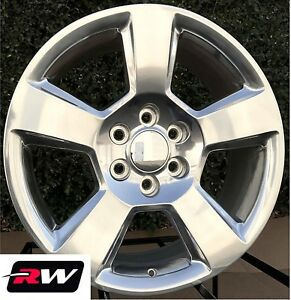 20 X9 Inch Chevy Tahoe Factory Style Wheels 5652 Polished Aluminum Rims
