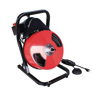 Theworks 1 2 In X 50 Ft Compact Power Feed Drain Cleaner Machine Pl171202