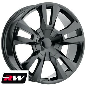 20 Inch 20 X9 Rw Tahoe Rst 2018 Wheels For Chevy Truck Gloss Black Rims Set