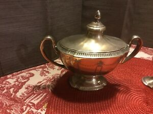 Community Silver Plated Sugar Bowl And Cream Pitcher