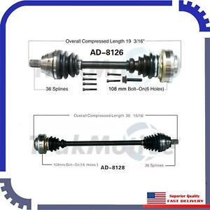New Cv Axle Shaft A Pair Front Left Right For 2005 2009 Volkswagen Jetta Gli