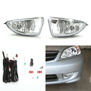Front Fog Light Kit Fit 2004 2005 Honda Civic Coupe Sedan Clear Lens Wire Switch