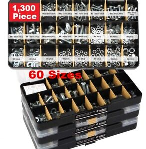 Screws Bolts Washers And Nuts Assortment Set Hardware Kit Phillips Head Mixed