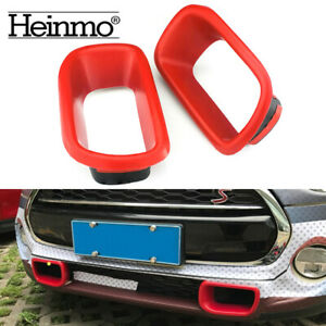 Front Bumper Grille Air Inlet Cover Stickers For Mini Cooper R60 Countryman Red