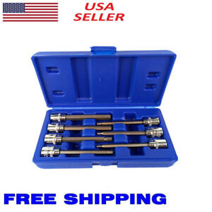 7 Pc 3 8 Inch Drive Metric Extra Long Hex Allen Bit Socket Set Free Shipping