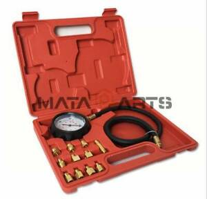 Automatic Wave Box Transmission Engine Oil Pressure Tester Gauge 400psi Tu 11a