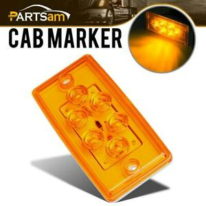 Rectangle Amber 6 Led Cab Roof Top Clearance Marker Light For Freightliner Volvo