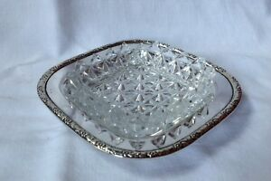 Walker Hall Silver Plated Butter Dish Original Crystal Cut Glass Liner